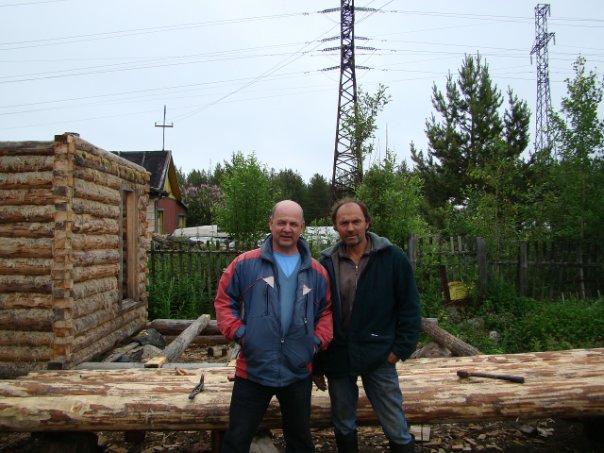 Поэт Николай Колычев на даче. Н.Колычев и Н.Ефремов